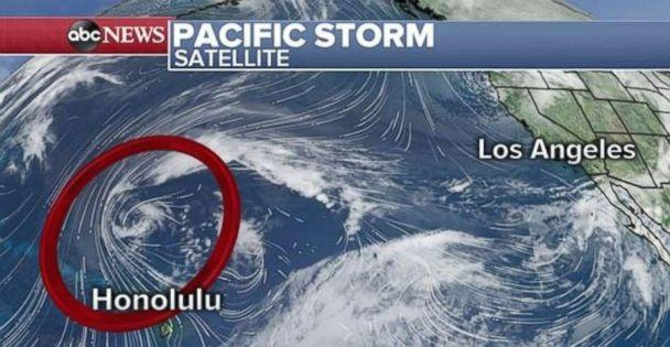 PHOTO: A rapidly intensifying storm could bring major impacts to Hawaii on Sunday and Monday. (ABC News)