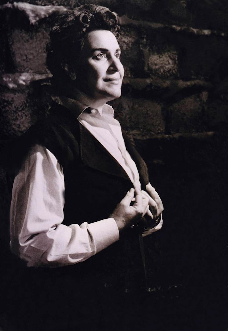 "In this undated picture provided by Hilde Zadek, soprano Hilde Zadek in the role of Leonore performs in Ludwig van Beethoven's opera ""Fidelio"" at the state opera in Vienna, Austria. It was 1947 in post-war Vienna, and Zadek still remembers taking a deep breath behind the curtain. A rookie on her first opera gig, she was about to sing the prestigious role of Aida for an audience stacked with particularly harsh critics _ Nazis equipped with whistles and determined to show ""that Jew from Palestine"" that she was not welcome at one of the world's greatest opera houses. But at the end even they applauded. (AP Photo/Hilde Zadek privat)"