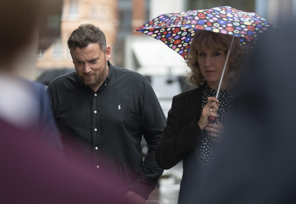 Steve Ford, father of Chloe and Jake Ford, arrives at the Old Bailey (PA)