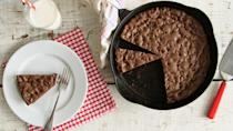 """<p>Nothing will compare to eating a slice of this rich, double chocolate cookie warm with a scoop of vanilla ice cream. You can both bake and serve the cookie directly in the same cast-iron skillet. <a href=""""https://www.marthastewart.com/1151678/chocolate-chocolate-chip-skillet-cookie"""" rel=""""nofollow noopener"""" target=""""_blank"""" data-ylk=""""slk:View recipe"""" class=""""link rapid-noclick-resp""""> View recipe </a></p>"""