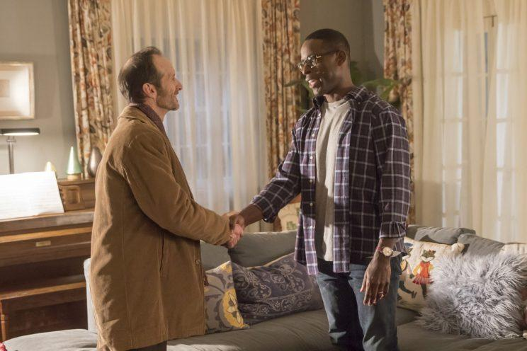 Denis O'Hare as Jesse, Sterling K. Brown as Randall Pearson (Photo by: Ron Batzdorff/NBC)