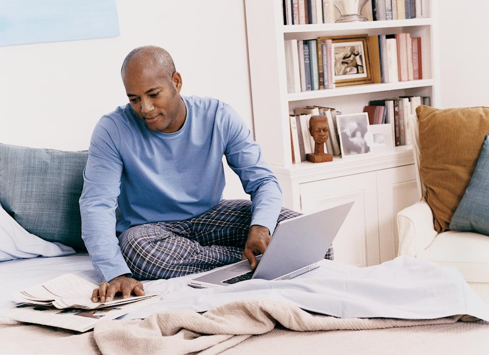 Britons are spending more on underwear, nightwear and loungewear, a report has found. [Photo: Getty]