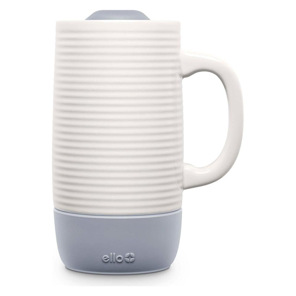 <p>The <span>Ello Jane Ceramic Travel Mug</span> ($15) is perfect for embracing those cozy vibes. The silicon bottom is like a coaster.</p>