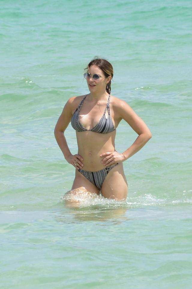 <p>Katharine proves it's always hotter in Miami.</p>