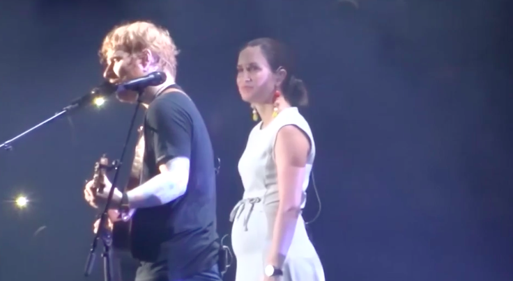 Missy performs with British megastar Ed Sheeran at Suncorp Stadium, 21st March. Source: Youtube