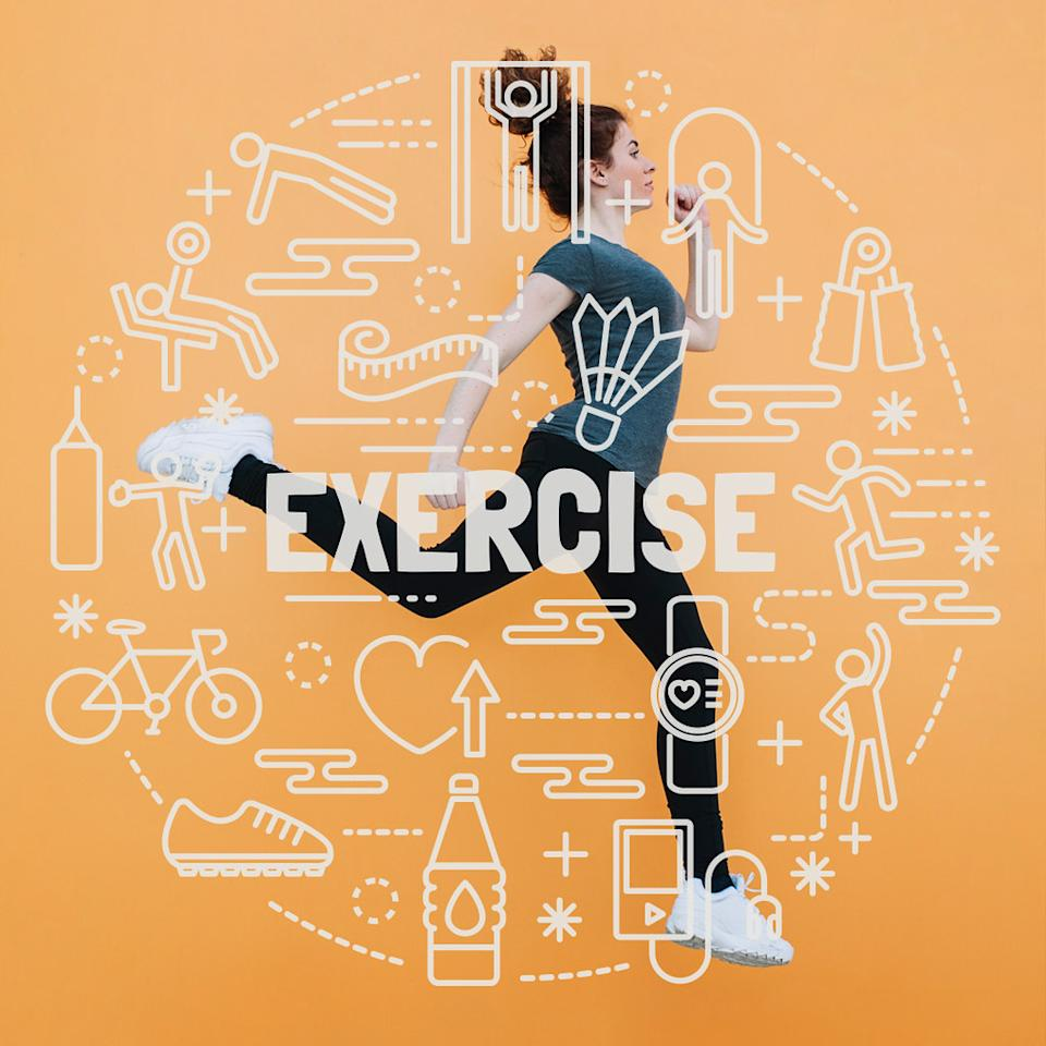 """There is no substitution for exercise. Studies show that indulging in any physical exercise activities for as little as 30 minutes a day can release """"Happy Hormones"""" into your bloodstream and boost your health drastically! If you can't commit to a fitness class or workout, just put on your running shoes, grab your earphones and go for a walk/jog outdoors! You'll come back feeling re-energized, fresh and a sense of achievement."""
