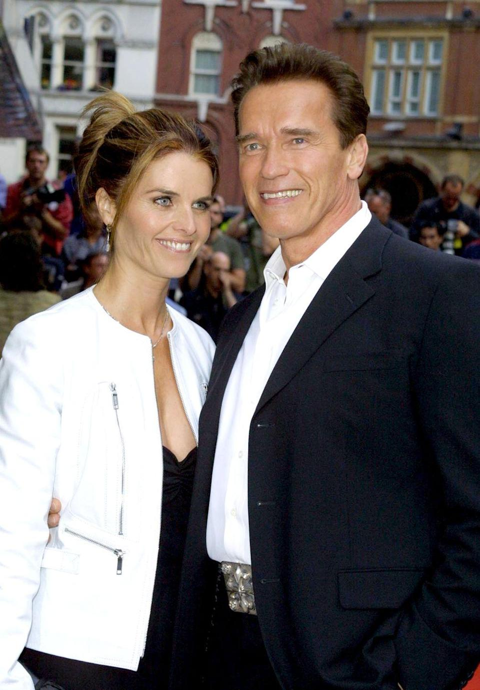 "<p>Schwarzenegger's affair with his housekeeper, Mildred Baena, was kept a secret for 14 years—even after he fathered a child <a href=""http://www.goodhousekeeping.com/life/entertainment/news/a46419/arnold-schwarzenegger-son-looks-like-him/"" rel=""nofollow noopener"" target=""_blank"" data-ylk=""slk:who looks exactly like him"" class=""link rapid-noclick-resp"">who looks exactly like him</a> with her. ""You can't go back—if I could, in reality, be Terminator, of course I would go back in time and would say, 'Arnold...no,'"" he told <em><a href=""https://www.mensjournal.com/features/arnold-schwarzeneggers-picks-his-next-fight-w469845"" rel=""nofollow noopener"" target=""_blank"" data-ylk=""slk:Men's Journal"" class=""link rapid-noclick-resp"">Men's Journal</a>. </em>""You know, it's always easy to be smart in hindsight. That's not the way it works.""</p>"