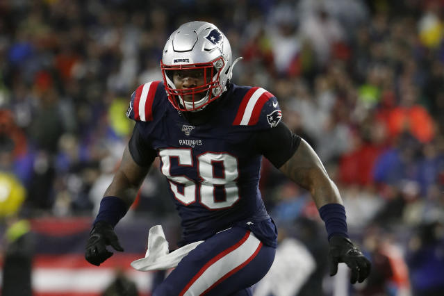 Jamie Collins is familiar with plenty of members of the Lions organization. (AP Photo/Winslow Townson, File)