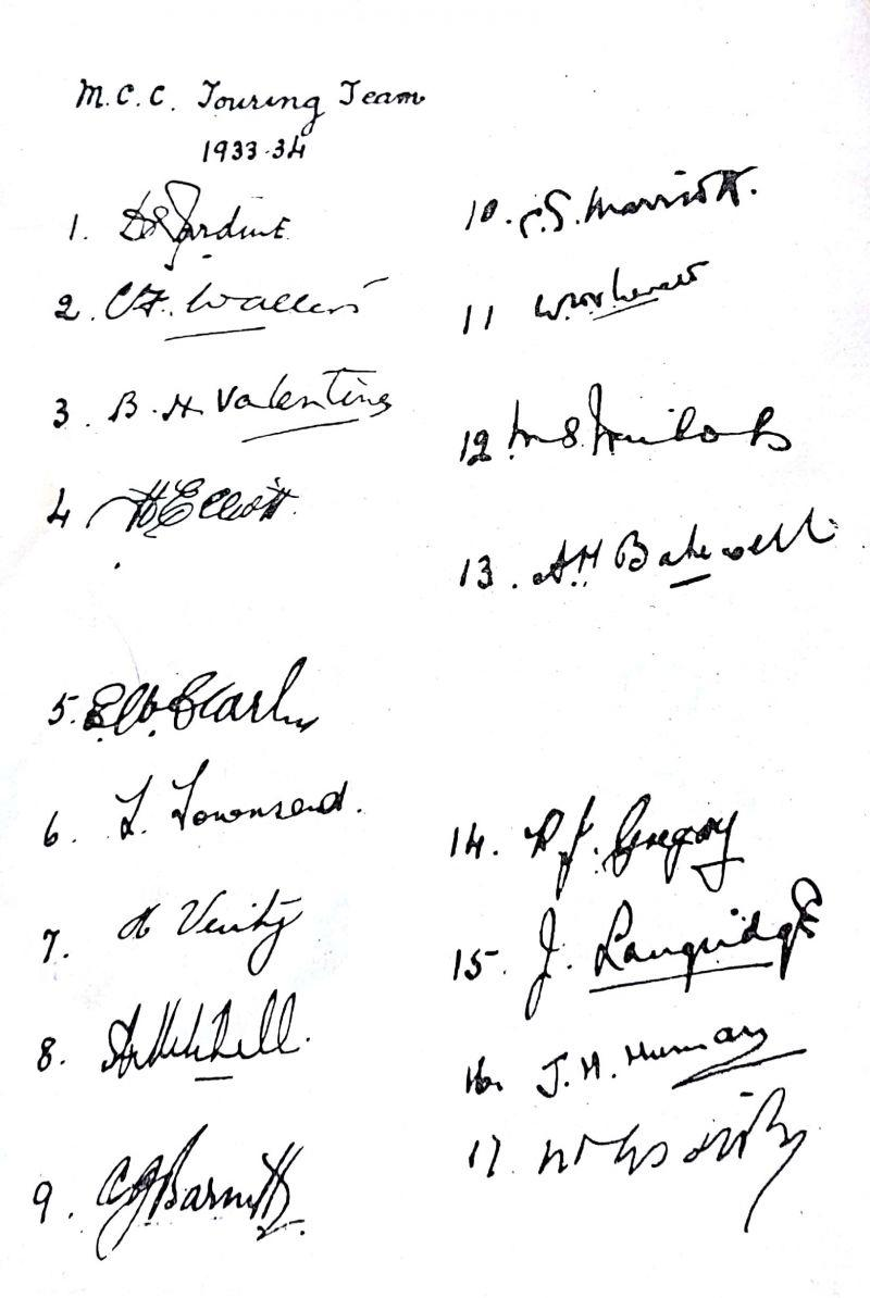 Mahatma Gandhi signed as the 17th player for MCC