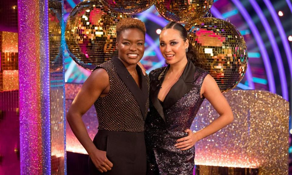 Nicola Adams and Katya Jones, who competed as Strictly's first same-sex couple in 2019.