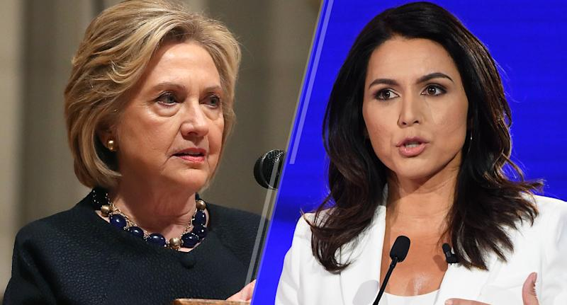 Hillary Clinton and Tulsi Gabbard
