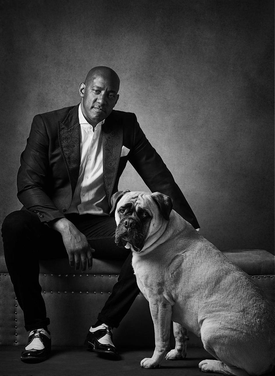 Dion Dublin with Maggie (Andy Gotts)