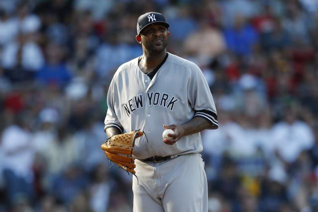 CC Sabathia continued a terrible stretch for New York Yankees pitching with a rough outing against the Boston Red Sox. (AP Photo/Michael Dwyer)