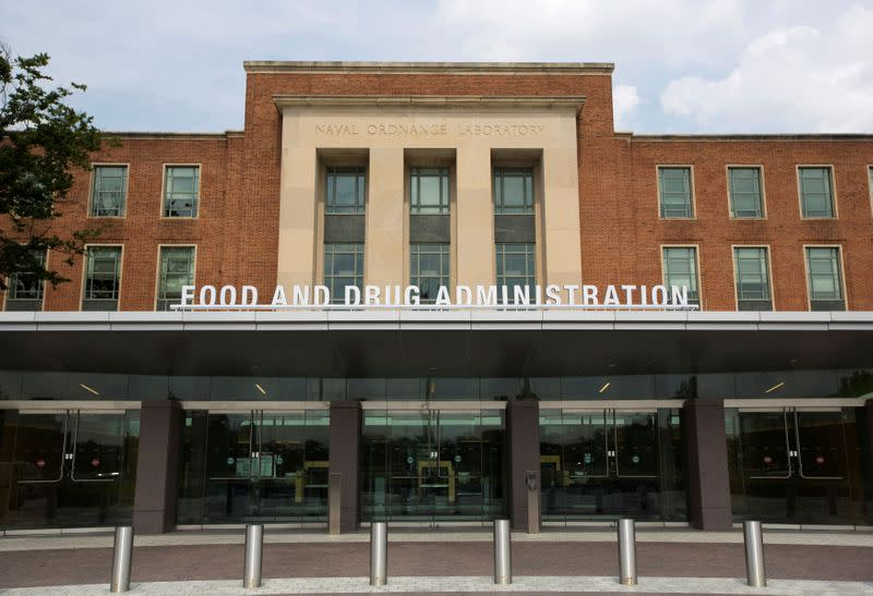 FILE PHOTO: A view shows the U.S. Food and Drug Administration (FDA) headquarters in Silver Spring