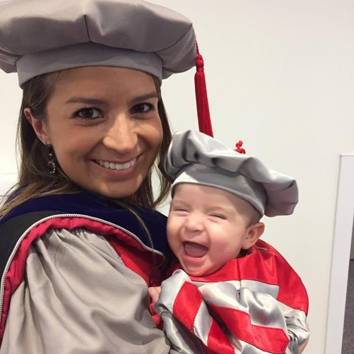 This MIT scientist dressed her baby in a handmade cap and gown