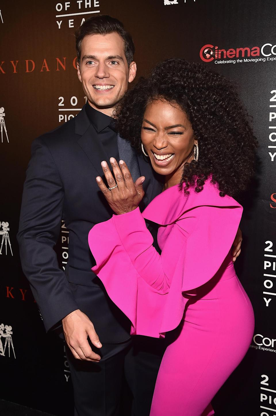 Henry Cavill and Angela Bassett at CinemaCon (Getty)