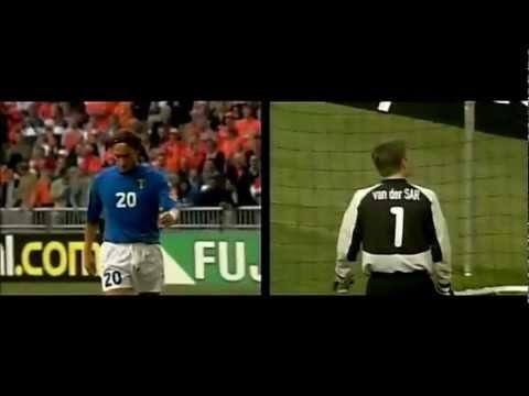 <p>Totti really came to the fore on the international stage at Euro 2000.</p> <br><p>He was handed his international debut in the qualifying campaign for the tournament, and by the time it came around he was one of the team's focal points. He hit two goals and provided an assist as Italy ran through to the final, but helped the Azzurri get there by scoring a penalty against the Netherlands in the last four.</p> <br><p>It was a penalty, though, typical of his class. Edwin van der Sar was the unlucky person fishing the ball out of the net after Totti's 'cucchiaio' spot kick, and that style would come to be a signature of the great man's career.</p> <br><p>He earned a man of the match award in the final too, even while Italy lost to France after extra time.</p>