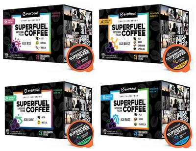 Category leader, everbowl(TM) introduces Superfuel Coffee with four distinct coffee blends - each is infused with superfoods.
