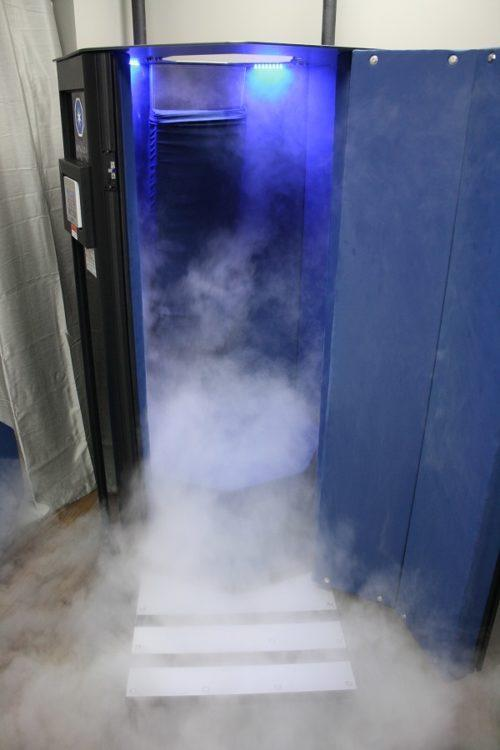 cryotherapy machine turned on