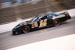 Sterling Marlin shown during racing action last year at Fairgrounds Speedway Nashville. Photo: Aaron Farrier of Paradigm Racing