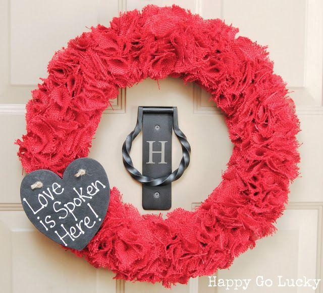 """<p>No feathers, tissue paper or felt for this blogger. She used burlap for an unconventional twist on her Valentine's wreath. </p><p><strong>Get the tutorial at <a href=""""https://www.happygoluckyblog.com/burlap-valentine-wreath-with-chalkboard/"""" rel=""""nofollow noopener"""" target=""""_blank"""" data-ylk=""""slk:Happy Go Lucky"""" class=""""link rapid-noclick-resp"""">Happy Go Lucky</a>.</strong></p><p><a class=""""link rapid-noclick-resp"""" href=""""https://www.amazon.com/red-burlap/s?k=red+burlap&tag=syn-yahoo-20&ascsubtag=%5Bartid%7C10050.g.35057743%5Bsrc%7Cyahoo-us"""" rel=""""nofollow noopener"""" target=""""_blank"""" data-ylk=""""slk:SHOP RED BURLAP"""">SHOP RED BURLAP</a><br></p>"""