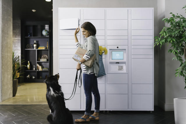 Amazon's new Hub offers apartment tenants a locker for packages. (Amazon)