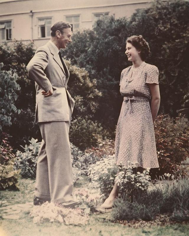 The Queen - then Princess Elizabeth - with her beloved father, King George VI in 1946. Photo: Getty Images.