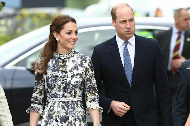 Prince William and wife Kate, Duchess of Cambridge, are expected to meet the young Trumps and their partners (AP)