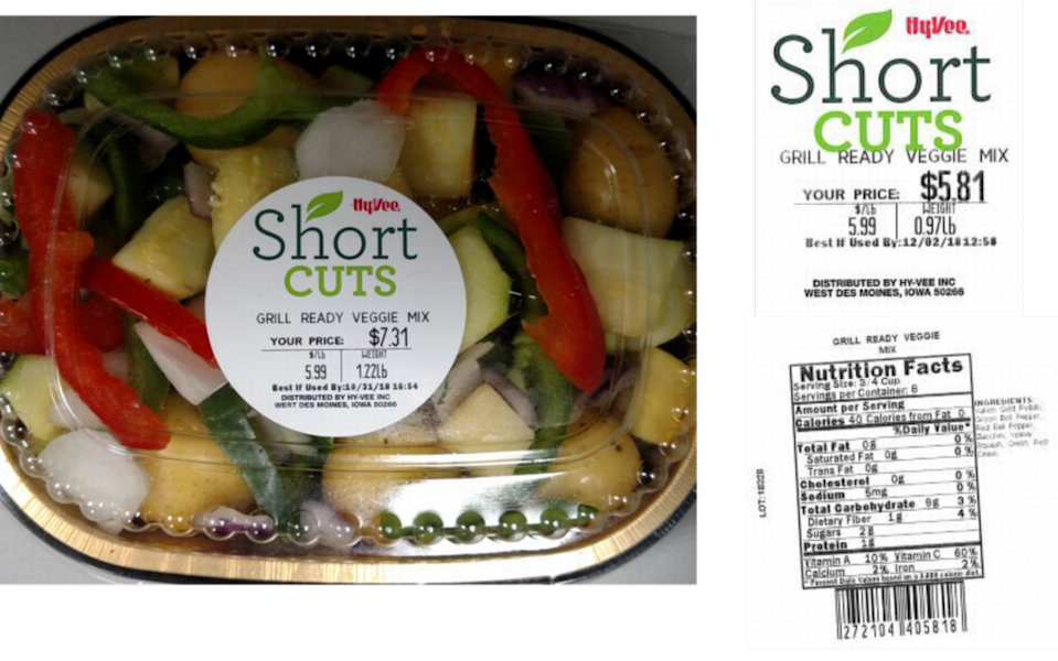 Hy-Vee Short Cuts Grill/Oven Ready Veggie Mix