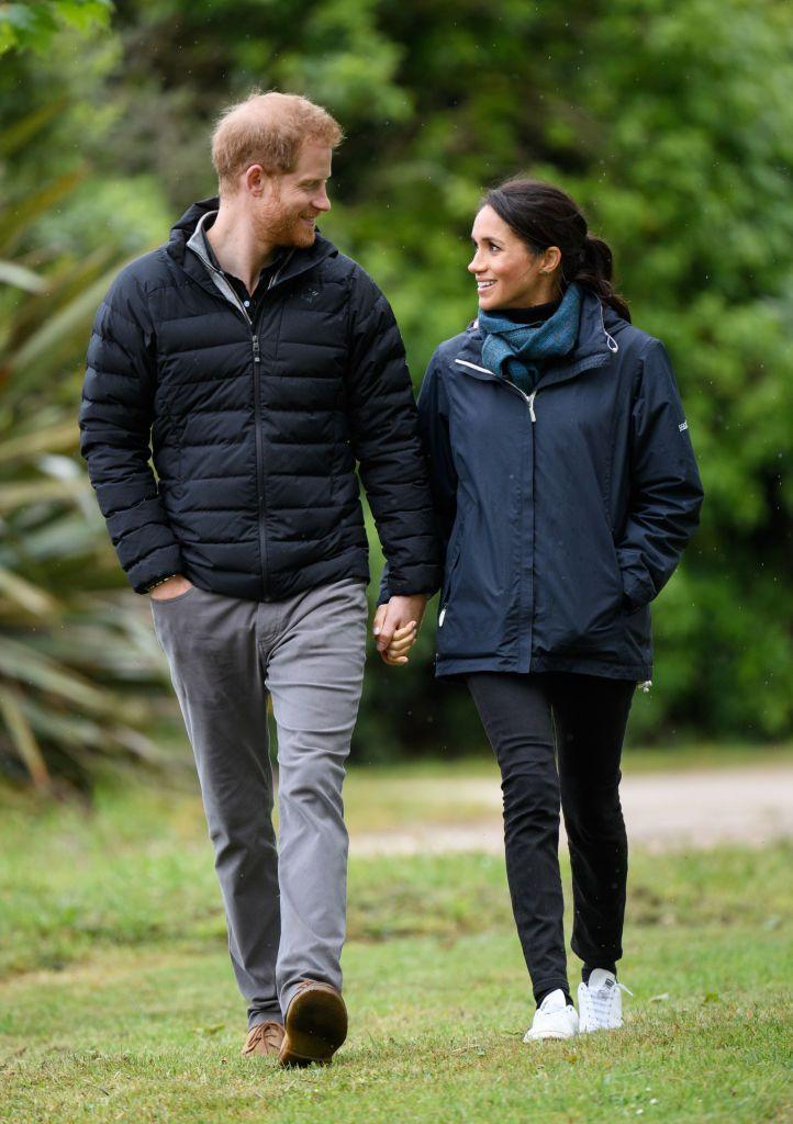 The Duchess wore the iconic sneakers on a trip to Abel Tasman National Park in New Zealand (via Getty Images)