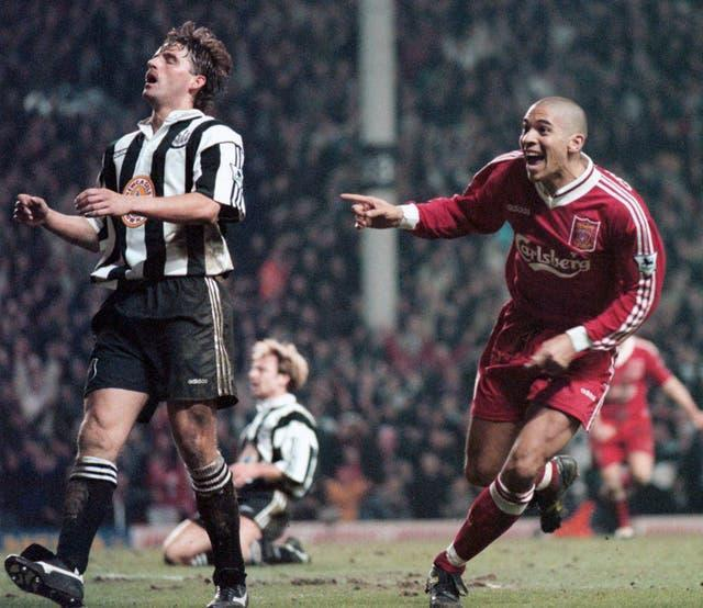 Stan Collymore's finish sealed a 4-3 win over Newcastle (David Kendall/PA Images)