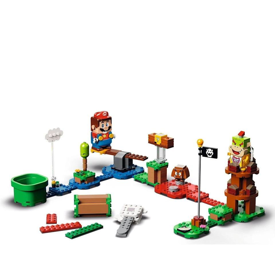 <p>The <span>Lego Super Mario Adventures With Mario Starter Course</span> ($60) has 231 pieces and is aimed at Nintendo-lovers ages 6 and up.</p>