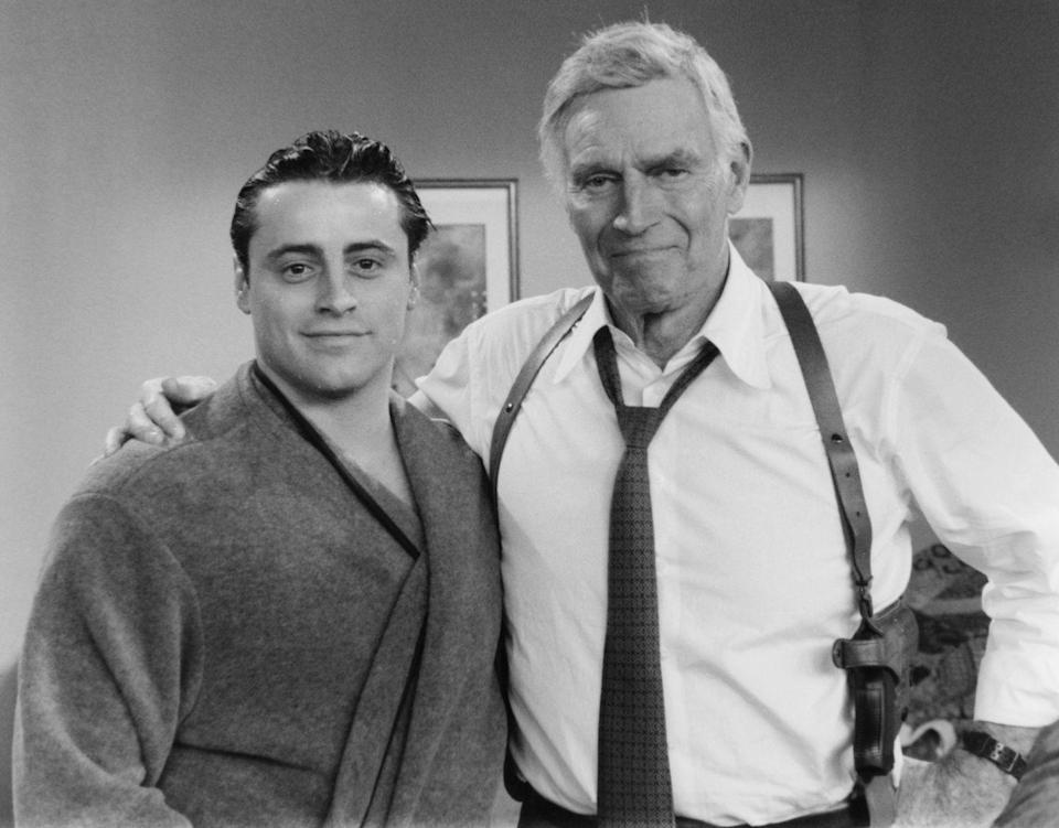 <p>Charlton Heston got to flex his signature tough guy act when he appeared as himself in season 4 of the series alongside Matt LeBlanc.</p>