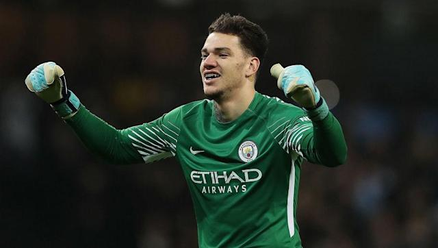 <p>A pretty obvious choice, Ederson is by far the stand-out candidate between the sticks, beating Loris Karius and a not-too-convincing Simon Mignolet to the spot.</p> <br><p>Blessed with good reflexes, the Brazilian shot-stopper has continued his fine form from his Benfica days and displayed excellent long-range passing with an overall success rate of 89%.</p>