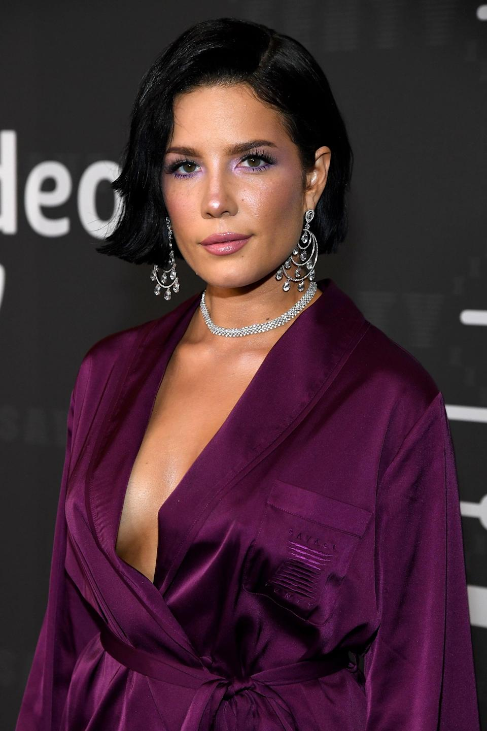 BROOKLYN, NEW YORK - SEPTEMBER 10:  Halsey attends Savage X Fenty Show Presented By Amazon Prime Video - Arrivals at Barclays Center on September 10, 2019 in Brooklyn, New York. (Photo by Kevin Mazur/Getty Images for Savage X Fenty Show Presented by Amazon Prime Video )