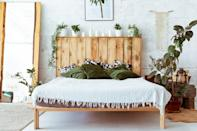 <p> Greenery is a great way to bring a space to life, and if you have a shelf or headboard that can sustain a plant - use it to your advantage! From succulents to trailing plants, there are a whole bunch that you can choose from. </p>