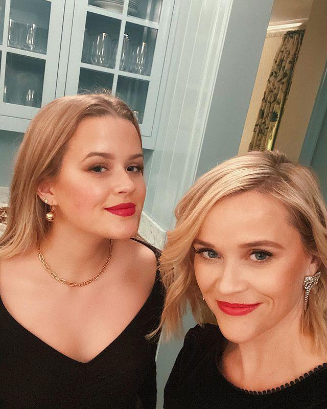 """<p>The actress shared a photograph of her and daughter Ava Phillippe before their night on the town.</p><p>'Girls night out with my favourite daughter! (ok she's my only daughter but still),' she captioned the sweet snap of them standing in a kitchen wearing matching black ensembles and red lipstick.</p><p>Zoeë Kravtiz commented on the photo: 'Omg my lil gorgeous twinZzzzzzzz [sic].</p><p>Meanwhile, Natalie Portman added: 'Beauties. Happy holidays!!!'</p><p><a href=""""https://www.instagram.com/p/B6biSUrAyWR/"""" rel=""""nofollow noopener"""" target=""""_blank"""" data-ylk=""""slk:See the original post on Instagram"""" class=""""link rapid-noclick-resp"""">See the original post on Instagram</a></p>"""