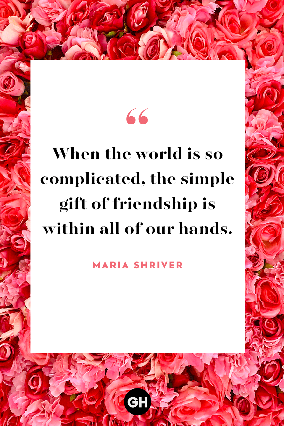 <p>When the world is so complicated, the simple gift of friendship is within all of our hands. </p>