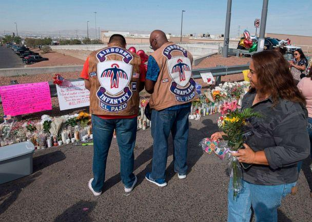 PHOTO: People pray at a makeshift memorial after the shooting that left at least 22 people dead at the Cielo Vista Mall WalMart in El Paso, Texas, Aug. 5, 2019. (Mark Ralston/AFP/Getty Images)
