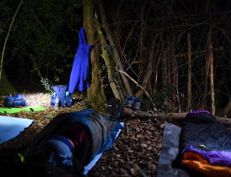 Sleeping out under the stars on an adventure trek in England.