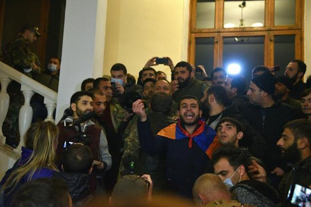News of the Russian-backed deal sparked outrage in Armenia, where protesters demanded the government's resignation