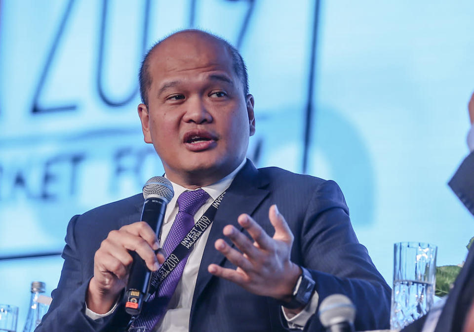 Khazanah managing director Datuk Shahril Ridza Ridzuan speaks during a panel discussion at Invest Malaysia 2019 in Kuala Lumpur March 19, 2019. — Picture by Firdaus Latif