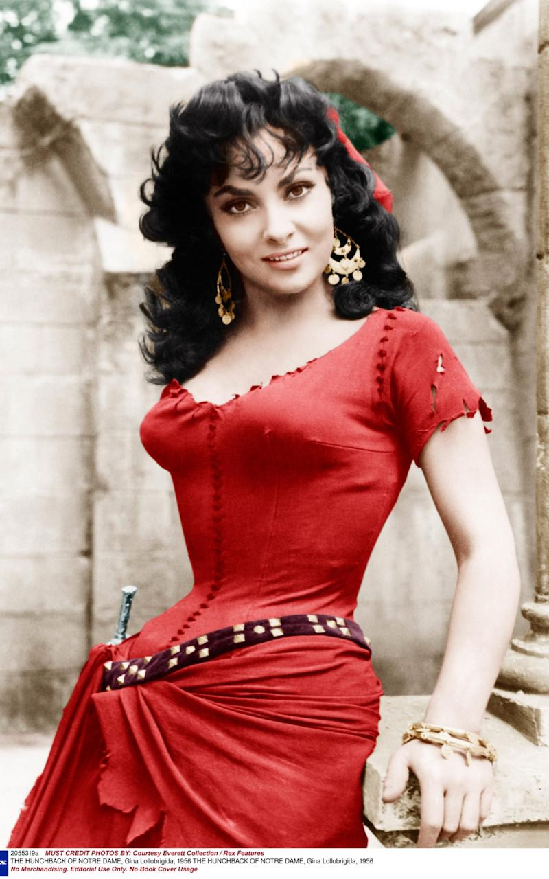 Gina Lollabrigida starred in The Hunchback of Notre Dame in 1956. - Credit: Rex Features