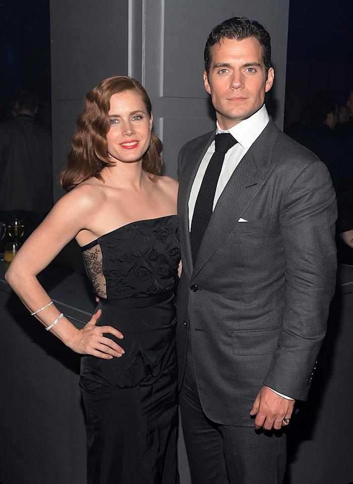 "Amy Adams and Henry Cavill attend the ""Man Of Steel"" world premiere after party at Skylight at Moynihan Station on June 10, 2013 in New York City."