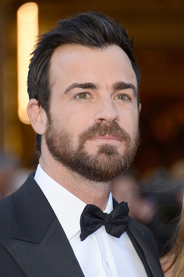 Justin Theroux arrives at the Oscars in Hollywood, California, on February 24, 2013.