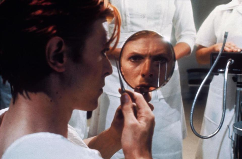 David Bowie in a scene from The Man Who Fell to Earth, 1976.