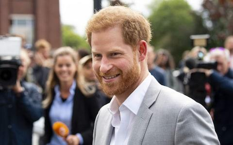 Prince Harry arrives at the ADAM Tower, in Amsterdam, on September 3, 2019 - Credit: FRANK VAN BEEK/AFP