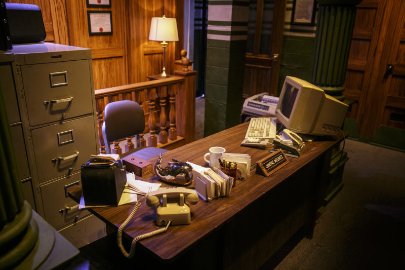 "The ""Ghostbusters"" mazes at Halloween Horror Nights at Universal Studios Hollywood opens with an office scene. (Photo: David Sprague)"
