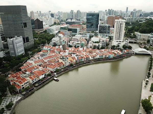 Aerial view of first phase of shophouses up for sale