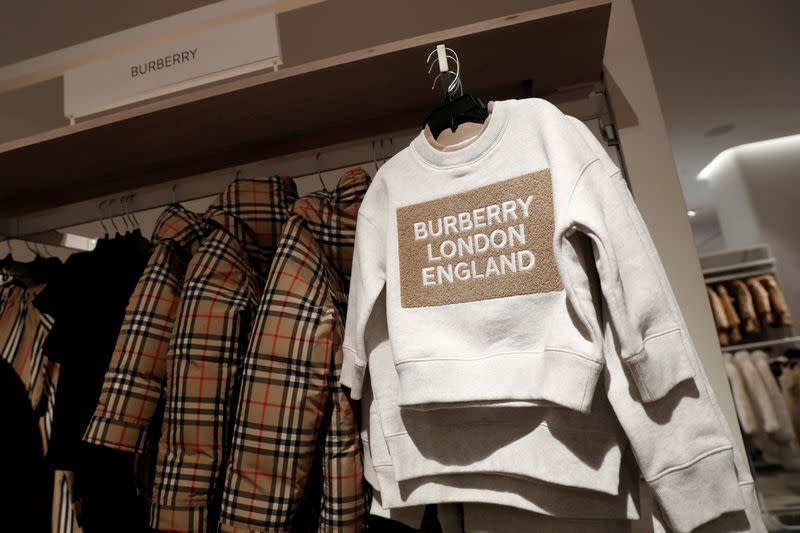 FILE PHOTO: Children's Burberry clothes are seen on display at the Nordstrom flagship store during a media preview in New York